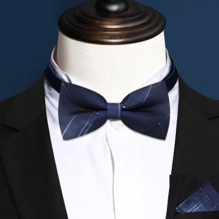 【拉福】倫藍西裝口袋巾新郎領結糾糾大人(整組)  拉福