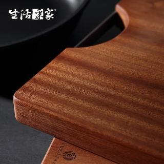 【生活采家】家用大款烏檀木整木加厚長方形砧板(#58002)好評推薦  生活采家
