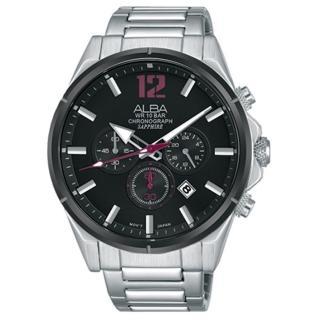 【ALBA】雅柏 ACTIVE 運動桃色計時手錶43mm(VD53-X297D/AT3D31X1)  ALBA