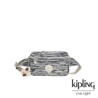 【KIPLING】線條塗鴉紋方形腰包-HALIMA強力推薦  KIPLING