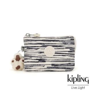 【KIPLING】線條塗鴉紋三夾層配件包-CREATIVITY S 推薦  KIPLING