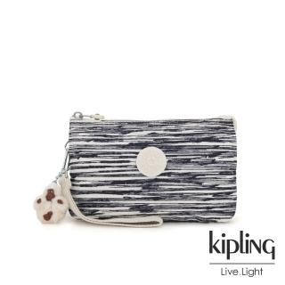 【KIPLING】線條塗鴉紋三夾層配件包-大-CREATIVITY XL  KIPLING