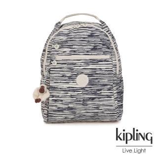 【KIPLING】線條塗鴉紋多袋實用後背包-MICAH真心推薦  KIPLING