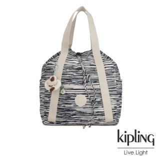 【KIPLING】線條塗鴉紋兩用側背後背包-ART BACKPACK S真心推薦  KIPLING