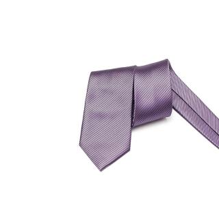 【拉福】領帶窄版領帶6cm防水領帶手打領帶(紫)強力推薦  拉福