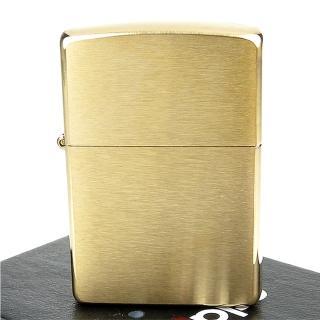 【Zippo】美系~Solid Brass~拉絲打磨金色霧面打火機  Zippo