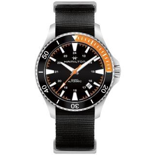 【HAMILTON 漢米爾頓】卡其海軍系列潛水機械腕錶(H82305931)  HAMILTON 漢米爾頓