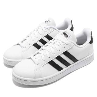 【adidas 愛迪達】休閒鞋 Grand Court 運動 女鞋 愛迪達 基本款 穿搭 舒適 球鞋 白 黑(F36483)  adidas 愛迪達