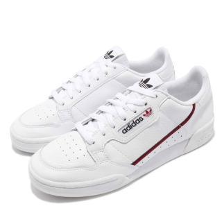 【adidas 愛迪達】休閒鞋 Continental 80 運動 男女鞋 愛迪達 情侶鞋 皮革 質感 穿搭 球鞋 白 紅(G27706)推薦折扣  adidas 愛迪達