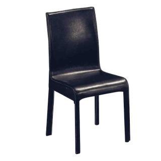 【Bernice】經典馬鞍皮鐵腳餐椅/單椅(兩色可選)好評推薦  Bernice