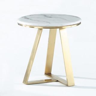 【Bernice】莎曼1.7尺圓形石面小茶几/邊桌  Bernice
