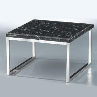 【Bernice】馬里諾2.3尺石面小茶几/邊桌(兩色可選)  Bernice