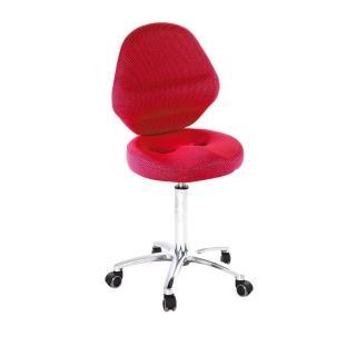 【吉加吉】工作椅 加椅背 小鋁腳+防刮輪(TW-T10LUX)  吉加吉