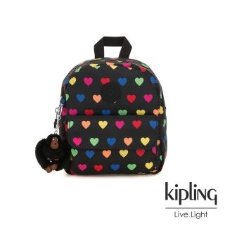 【KIPLING】繽紛愛心迷你後背包-ROSALIND  KIPLING
