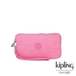 【KIPLING】甜美糖果粉多卡層拉鍊長夾-BERNARD  KIPLING