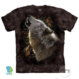 【摩達客】美國進口The Mountain 秋狼之歌 純棉環保藝術中性短袖T恤(預購)  摩達客
