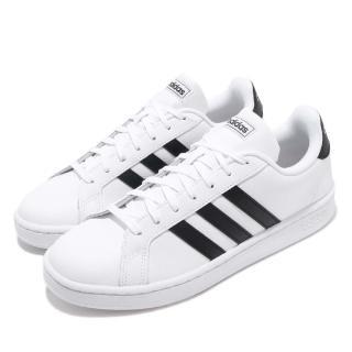 【adidas 愛迪達】休閒鞋 Grand Court 運動 男鞋 愛迪達 基本款 球鞋 穿搭 舒適 黑 白(F36392)推薦折扣  adidas 愛迪達