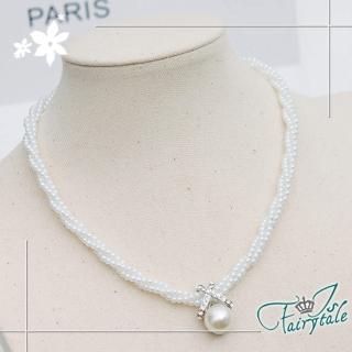 【伊飾童話】麻花珍珠*浪漫交叉造型珍珠項鍊  伊飾童話