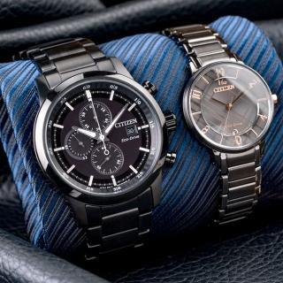 【CITIZEN 星辰】Eco-Drive 最佳契合光動能情人對錶(CA0615-59E+EM0528-82H)  CITIZEN 星辰