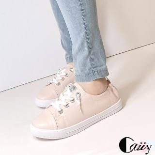 【Caiiy】真皮通勤百搭休閒鞋A700(紅色/粉色)  Caiiy