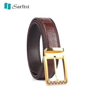 【Sarlisi】真皮針扣鱷魚皮帶鱷魚腹皮肚皮腰帶手工編織包邊(今日特價 明天漲價 原價12800 現價8900)  Sarlisi