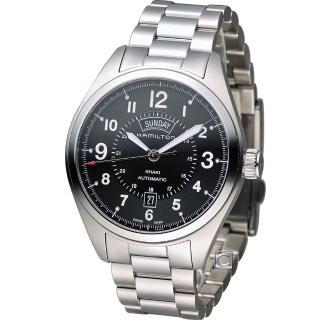 【HAMILTON 漢米爾頓】卡其陸戰雙曆機械腕錶(H70505133) 推薦  HAMILTON 漢米爾頓