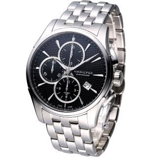 【HAMILTON 漢米爾頓】Jazzmaster 計時機械腕錶-黑(H32596131)  HAMILTON 漢米爾頓