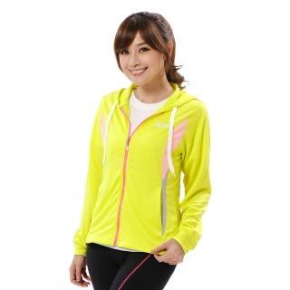 【遊遍天下】女版吸濕排汗透氣抗UV連帽外套GJ10007黃色(M-3L)  遊遍天下