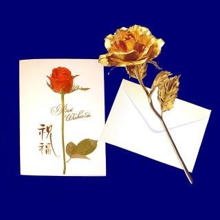 【開運陶源】黃金 玫瑰花 情人節禮品(金箔花 玫瑰)  開運陶源