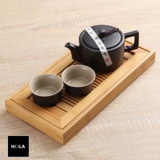 【HOLA】黑釉汝窯一壺二杯茶具組附竹茶盤推薦折扣  HOLA