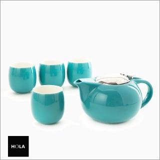【HOLA】愛格爾一壺四杯茶具組-綠推薦折扣  HOLA
