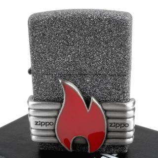 【Zippo】美系~Red Vintage Wrap-復古火焰貼飾打火機  Zippo