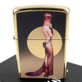 【Zippo】美系~Olivia De Berardinis-性感女郎圖案設計打火機  Zippo
