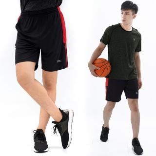 【遊遍天下】MIT男款吸濕排汗休閒運動短褲P0001黑紅(M-2L)  遊遍天下