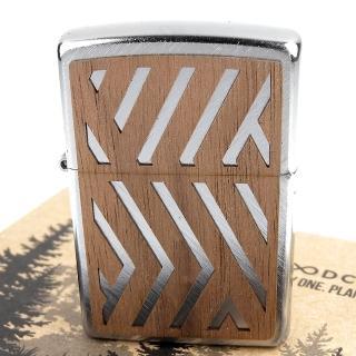 【Zippo】美系~WOODCHUCK-核桃木貼片打火機-買一顆!種一棵樹! 推薦  Zippo