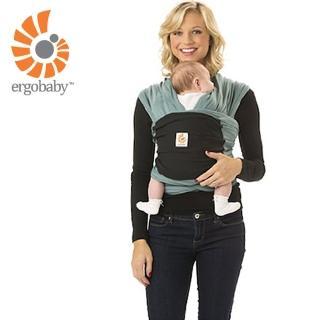 【Ergobaby】包裹式嬰兒揹巾/揹帶(湖水綠/黑色)  Ergobaby