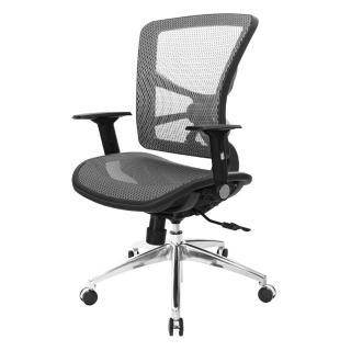 【吉加吉】短背全網 電腦椅/鋁腳/摺疊扶手(TW-81X7LU1) 推薦  吉加吉