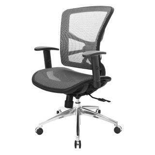【吉加吉】短背全網 電腦椅/鋁腳/升降扶手(TW-81X7LU5)  吉加吉