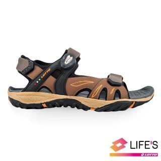 【LOTTO】男 LIGHT-FOOTED 磁扣戶外涼鞋(咖啡-LT9AMS0203)  LOTTO