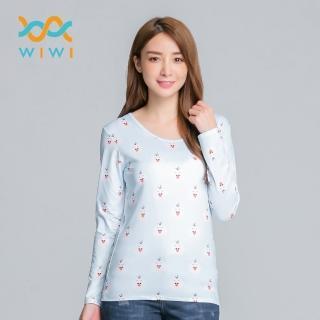 【WIWI】可愛TsumTsum溫灸刷毛圓領發熱衣三色 女S-2XL好評推薦  WIWI