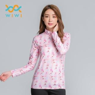 【WIWI】藤蔓米妮溫灸刷毛高領發熱衣兩色 女S-2XL好評推薦  WIWI