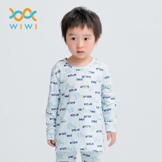 【WIWI】文字怪獸電力溫灸刷毛圓領發熱衣兩色 童100-150  WIWI