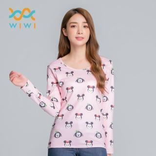 【WIWI】家族TsumTsum溫灸刷毛圓領發熱衣四色 女S-2XL 推薦  WIWI