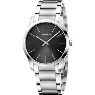 【Calvin Klein】CK City 極簡都會手錶-黑x銀/37mm(K2G22143)好評推薦  Calvin Klein