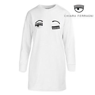 【Chiara Ferragni】FLIRTING長袖連身運動衫-白(2019 春夏新品)  Chiara Ferragni