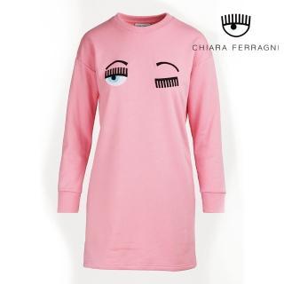 【Chiara Ferragni】FLIRTING長袖連身運動衫-粉(2019 春夏新品)  Chiara Ferragni