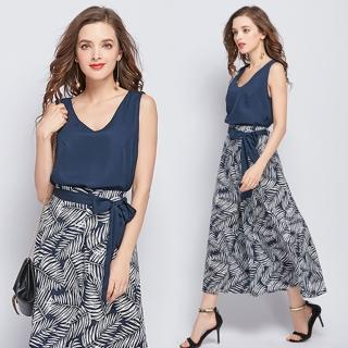 【KEITH-WILL】花漾之戀專櫃質感寬褲套裝M-XL(共1色)  KEITH-WILL