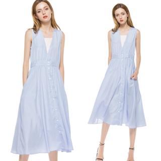【KEITH-WILL】甜味浪漫造型V領洋裝M-XL(共1色)  KEITH-WILL