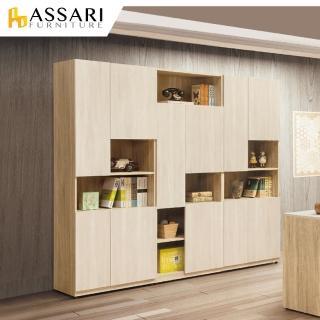 【ASSARI】葛瑞絲三門書櫃(寬75x深40x高197cm)好評推薦  ASSARI