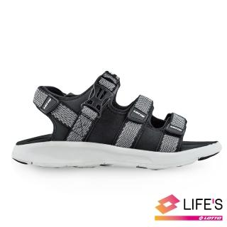 【LOTTO】女 潮流織帶涼鞋(黑-LT9AWS0350)真心推薦  LOTTO
